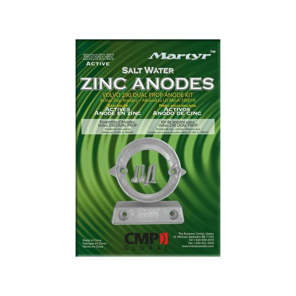 Martyr Anodes Volvo Penta Anode Kit 290, Zink