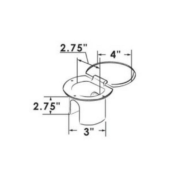 ITC RVS Douche met Nylon slang - Massief Messing Sproeier