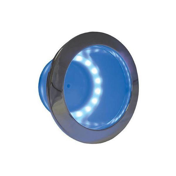 ITC Bekerhouder LED-ring- Blauw - Inbouw - RVS