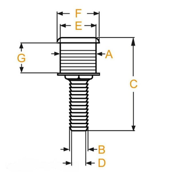 """Huiddoorvoer RVS AIS 316 -  1/2"""" (13 mm)"""