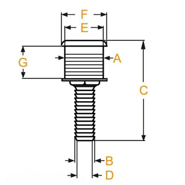 """Huiddoorvoer RVS AIS 316, 3/8"""" ( 9.5 mm)"""
