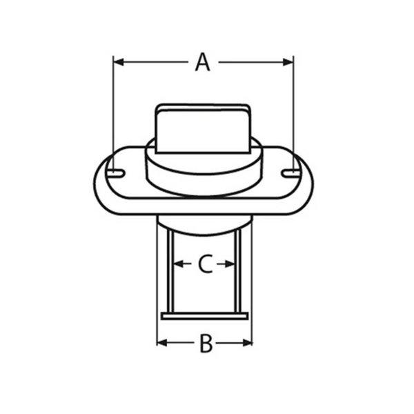 Lensplug ovaal met schroefdop - RVS - 25,4 mm