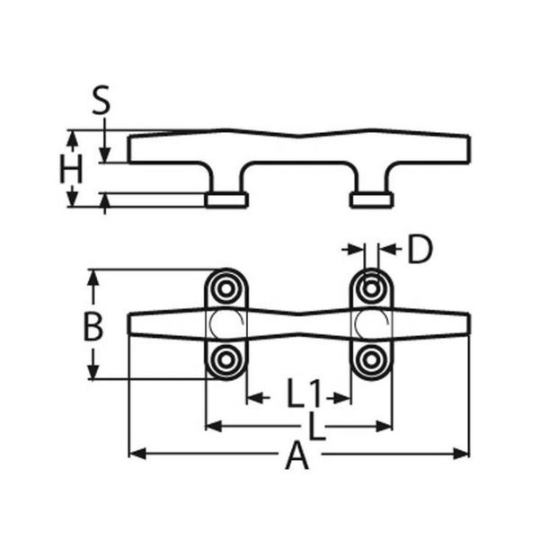 Kikker -RVS - 100 mm.