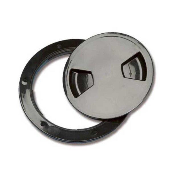 Inspection plug 140 mm - Zwart