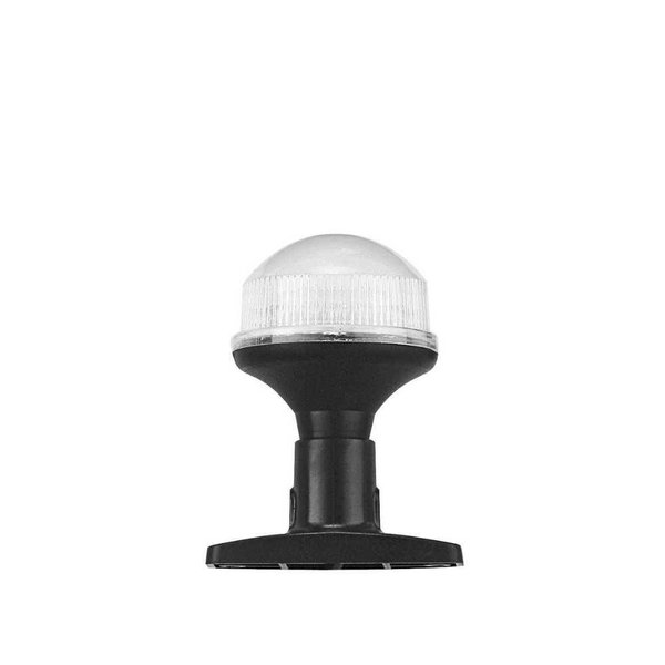 All round LED lampje - 10 cm - met vaste kunststof voet - Zwart