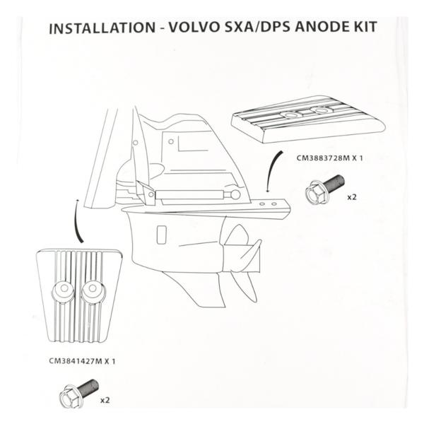 Martyr Anodes Volvo Penta Anode Kit SX-A, Aluminium