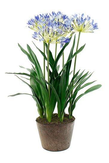 Kunstplant Agapanthus Soiled blue - Zijdeplant