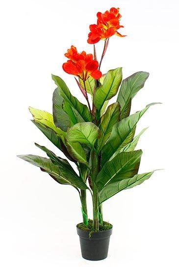 Kunstplant Canna Orange  - Zijdeplant