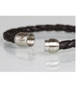 Schumacher Armband gevlochten, licht bruin
