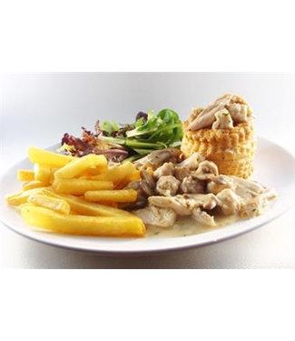 Reservatie: Vol-au-vent met frietjes