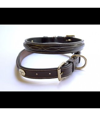 Dy'on FANCY Dog Collar, Brown, 65cm