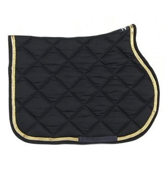 Anna Scarpati Saddle Pad Jump Quaks Navy / Gold