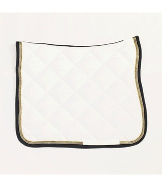 Anna Scarpati Saddle Pad Dressage Quana White