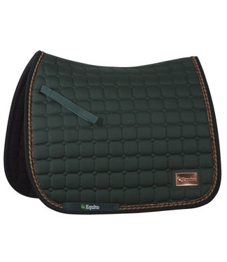 Equito Saddle Pad - Forest Green meets Rosé Gold - Dressage