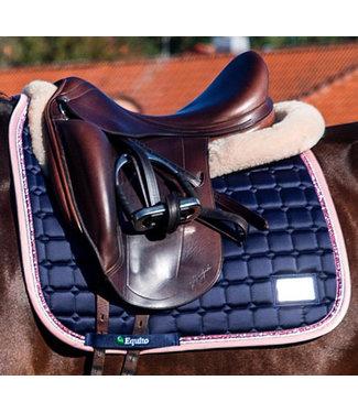 Equito Saddle Pad - Navy Pink - Dressage