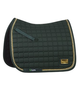 Equito Saddle Pad - Forest Green Gold - Dressage