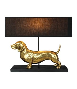 Happy-House Lamp Teckel Goud