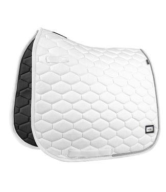 Fairplay Saddle Pad Hexagon Crystal White