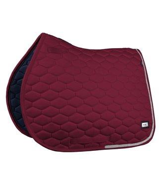 Fairplay Saddle Pad Hexagon Crystal Burgundy VS