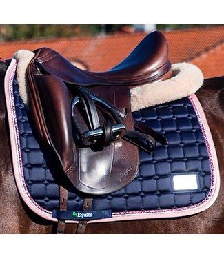 Equito Saddle Pad - Navy Pink - VS Full