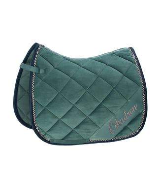 Eskadron Velvet Crystal Saddle Cloth Seapine Green DL Full