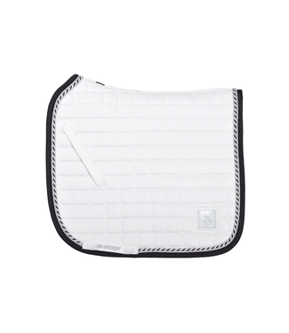 SD SHOW COLLECTION SADDLEPAD IN WHITE/SILVER/BLACK