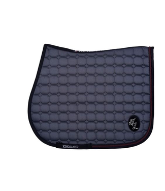 Kingsland Demi Saddle Pad with Coolmax Grey Pinstripe Dressage