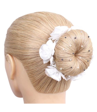 SD Hairnet With Navy Pearls And Crystal Beads