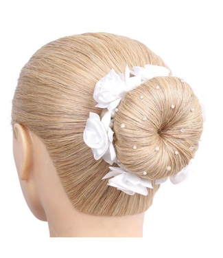 SD Hairnet With Pearls and Crystal Beads