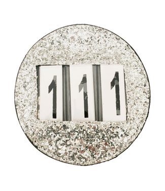 Equito Number Holder - Silver