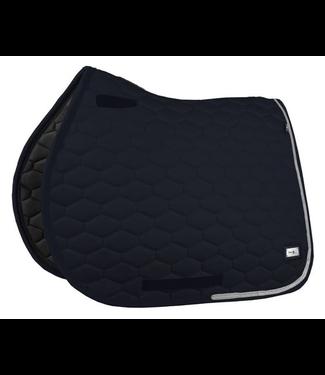 Fairplay Saddle Pad Hexagon Crystal <br /> Black VS
