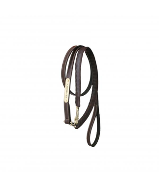 Kentucky Leather covered chain lead brown 270 cm bruin