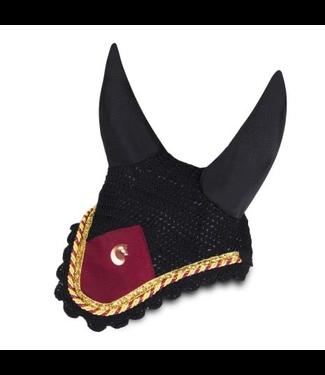 Equito Ear bonnet - Burgundy Gold -Full