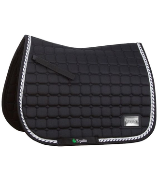 Equito Saddle pad - black silver - Full Dressage
