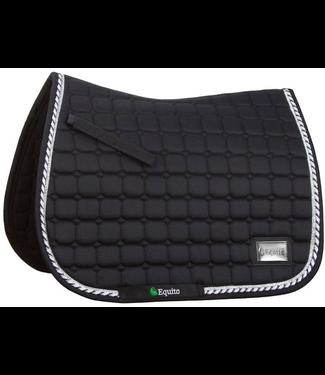 Equito Saddle pad - black silver - Full Dressage