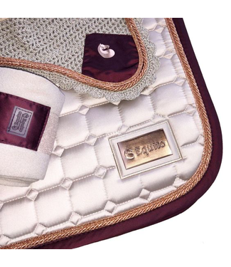 Equito Saddle pad - champagne/plum/rose gold - Dressage
