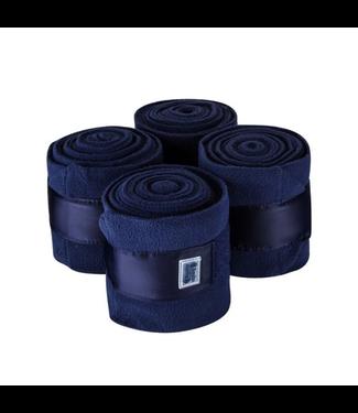 Equito Fleece bandages - navy shiny - 4-pcs