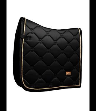Equestrian Stockholm Saddle pad Black Edition Gold