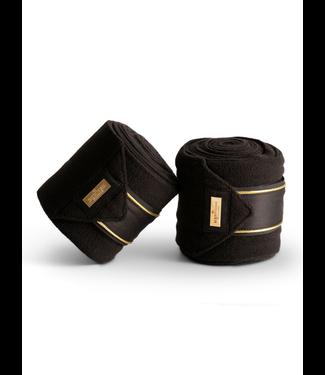 Equestrian Stockholm Fleece bandages Black Edition Gold