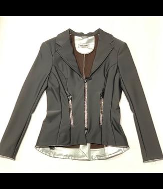 Deserata Zip Jacket Black + White Crystals