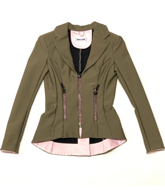 Deserata Zip Jacket Taupe + Light Rose Crystals