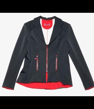 Deserata Zip Jacket Black + Red Crystals 40