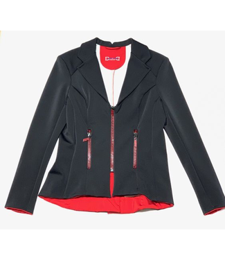 Deserata Zip Jacket Black + Red Crystals