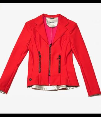 Deserata Zip Jacket Red + Red Crystals 38