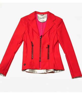 Deserata Zip Jacket Red + Red Crystals