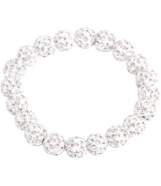 SD Small Diamond Scrunchie in White Diamond