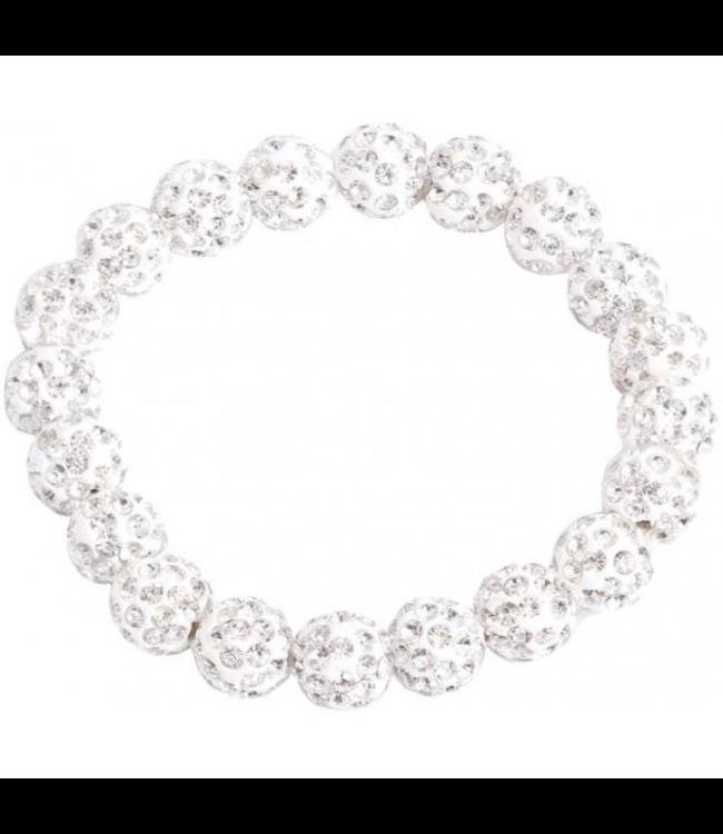 SD Small Diamond Scrunchie in White Diamond