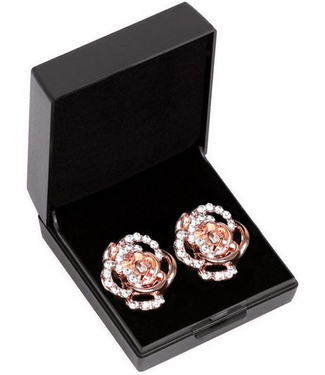 SD DIAMOND ROSE EARRING. ROSE GOLD