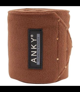 Anky Fleece Bandages Saddle Brown