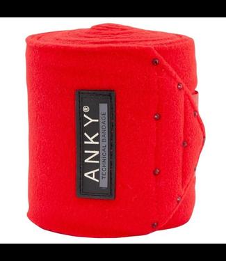 Anky Fleece Bandages Crimson Red